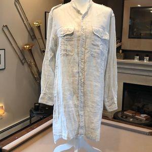 Civilianaire Linen Tunic Dress